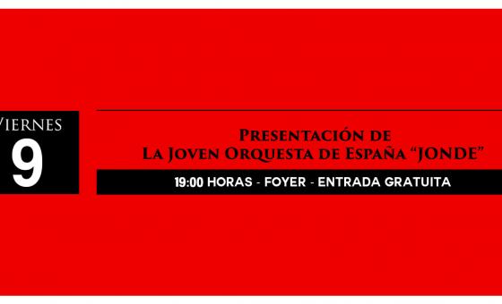 Concierto Joven Orquesta de España Jonde