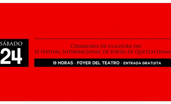 Clausura Festival de Poesía